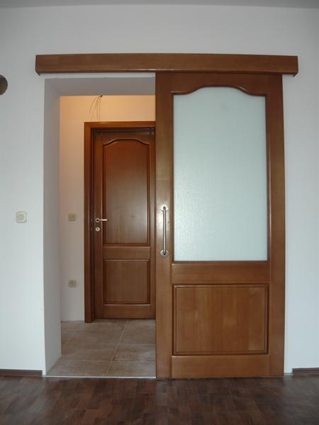 masivna lesena steklena vrata