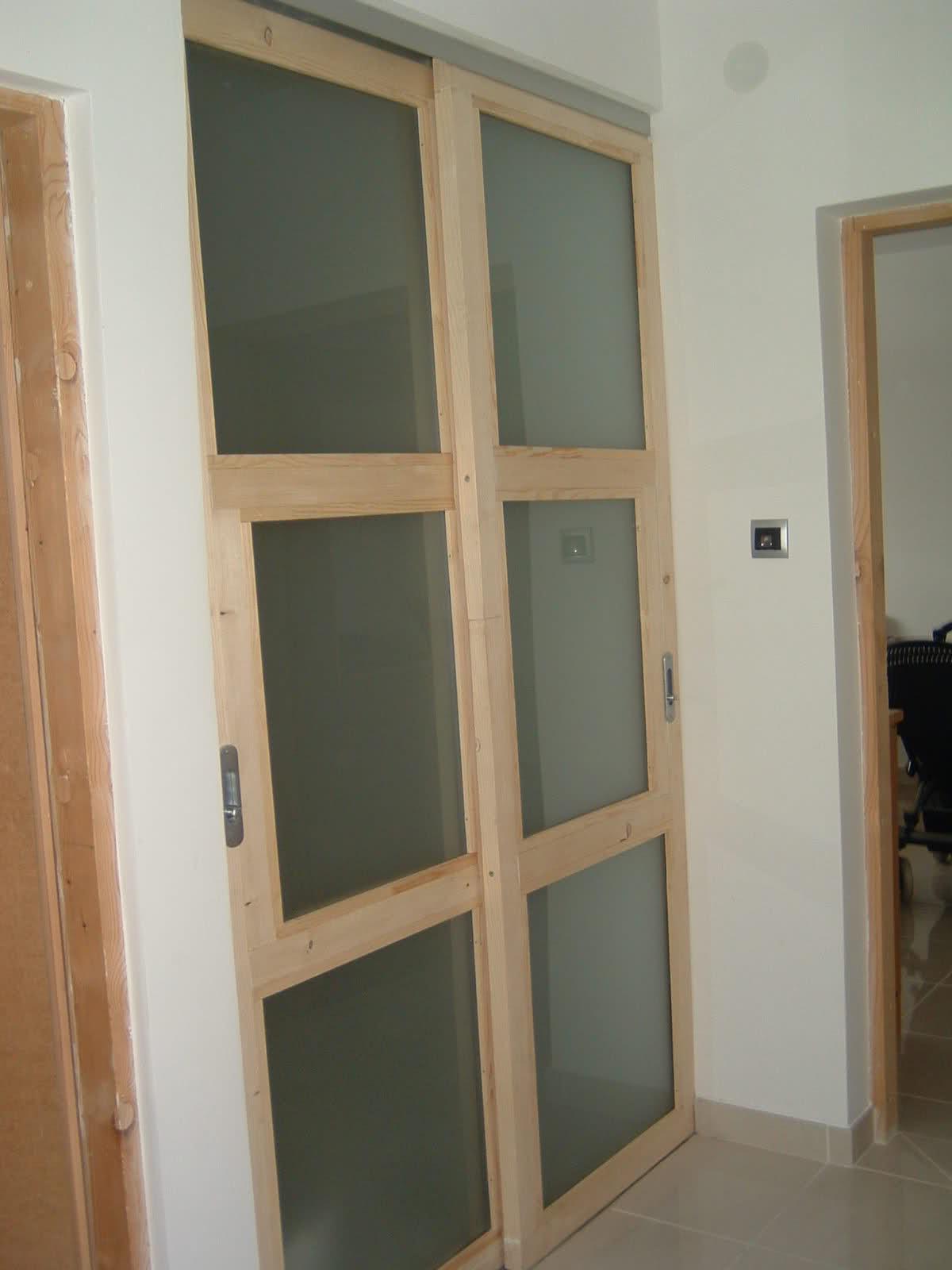 lesena drsna vrata in profili