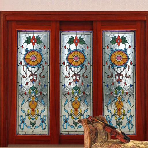 Izdelava drsnih vrat z vitražem