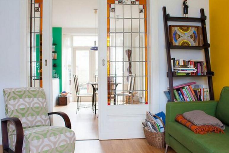izdelava vitraža na drsnih vratih
